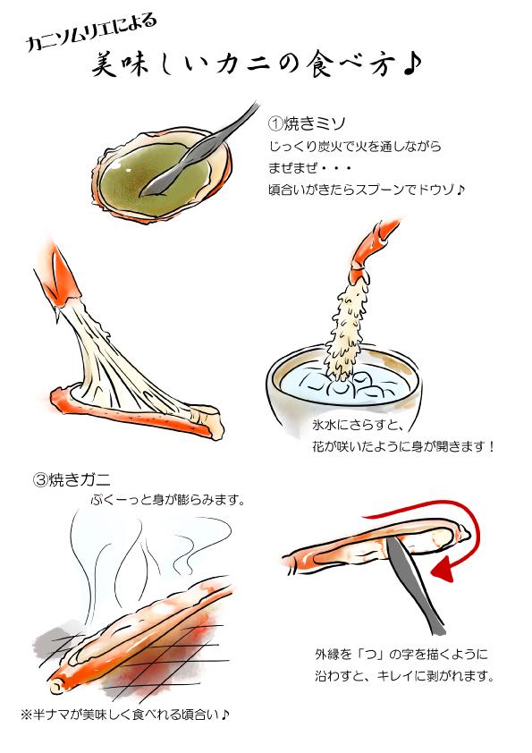 かにの美味しい食べ方 1