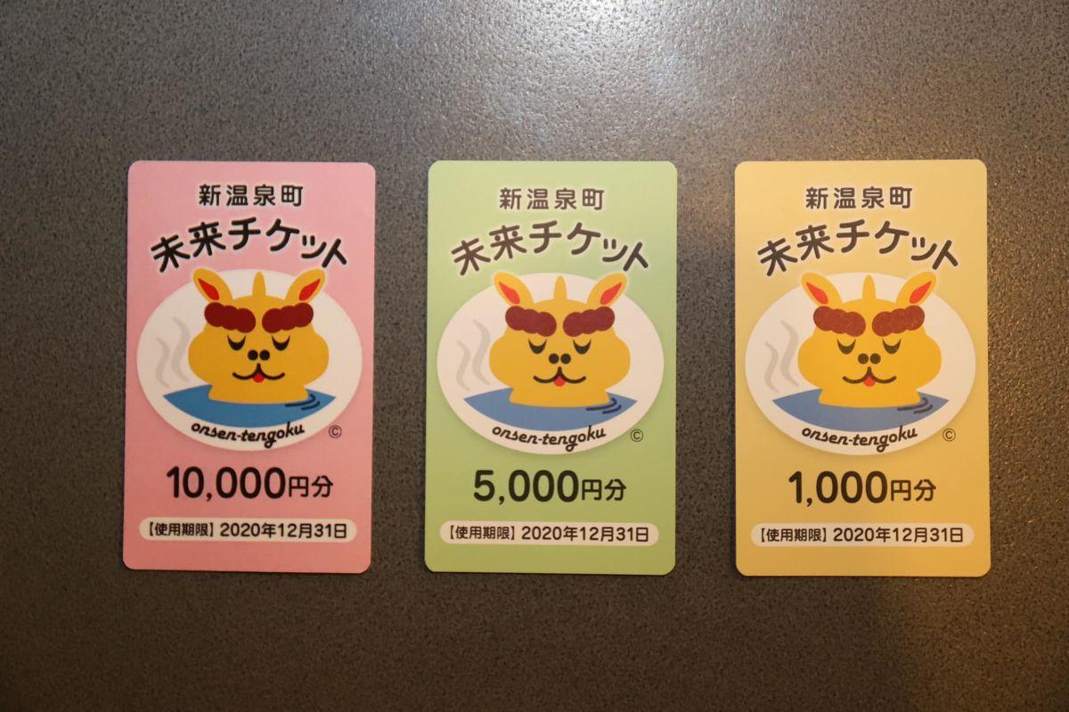 新温泉町未来チケット1000円5000円10000円