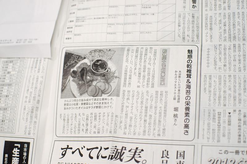 きのこ新聞紙面