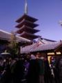 今年最初の浅草寺