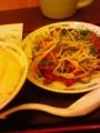 今年最初のニラレバ炒め定食