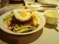 今日の昼食: ロコモコ(ランチタイムはスープ付き)