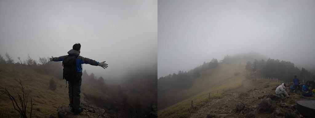 あたり一面霧だらけでした