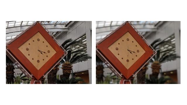 portrait mode有り無しの比較写真(時計)