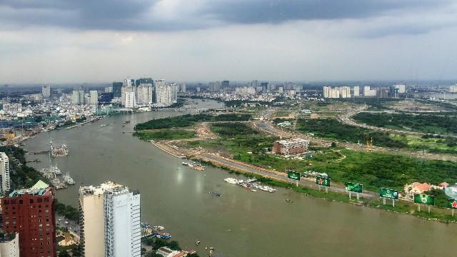 ベトナムの都市と田舎の境目の写真