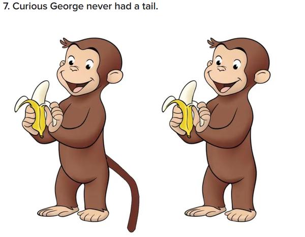 尻尾のあるおさるのジョージとしっぽのないおさるのジョージ