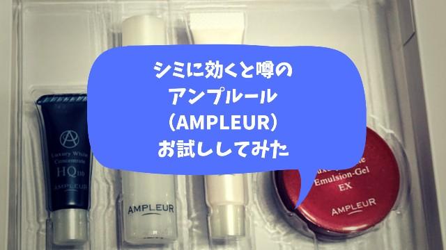 アンプルールトライアルセットの写真