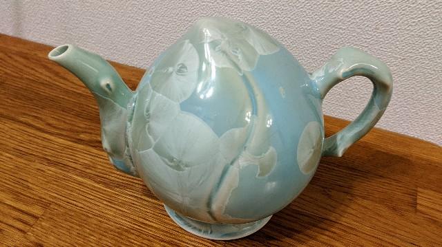 台湾で購入した自分へのお土産「中国茶器 結晶甜桃」横からの写真