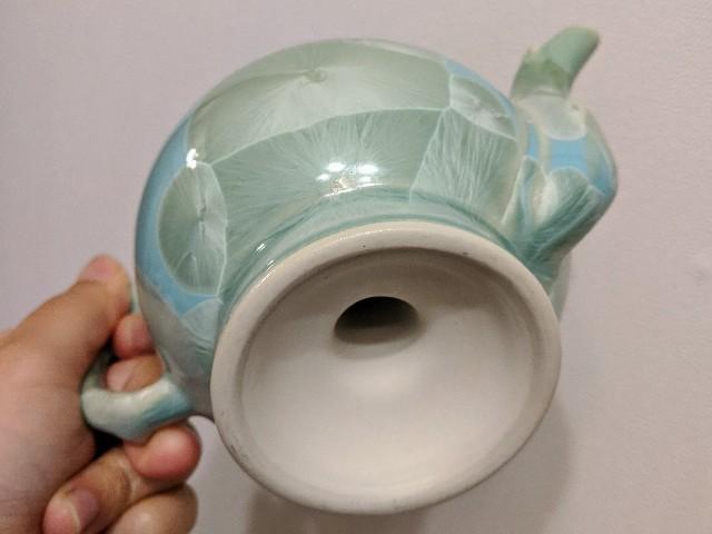 台湾で購入した自分へのお土産「中国茶器 結晶甜桃」下からの写真