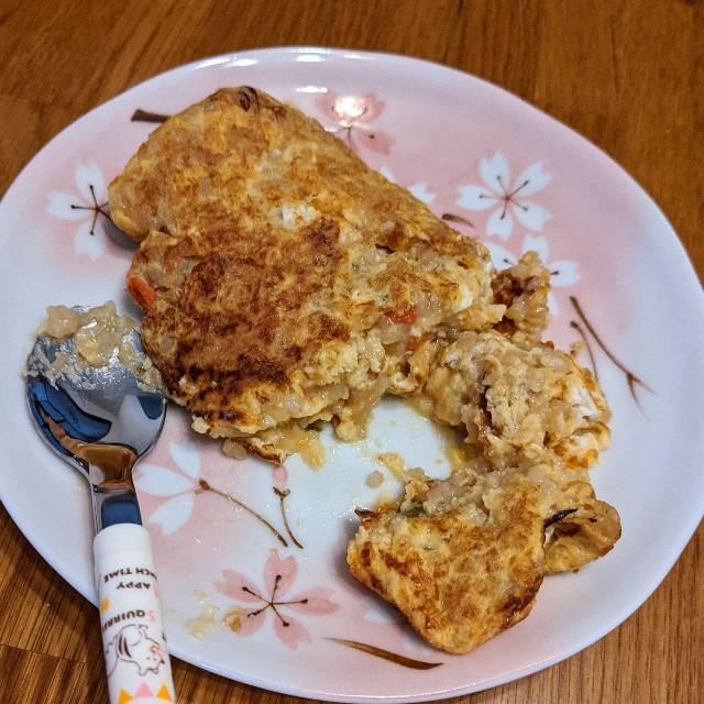 レトルトの離乳食入り卵焼きの写真
