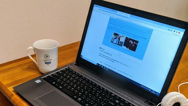 オンライン英会話中のパソコンの写真