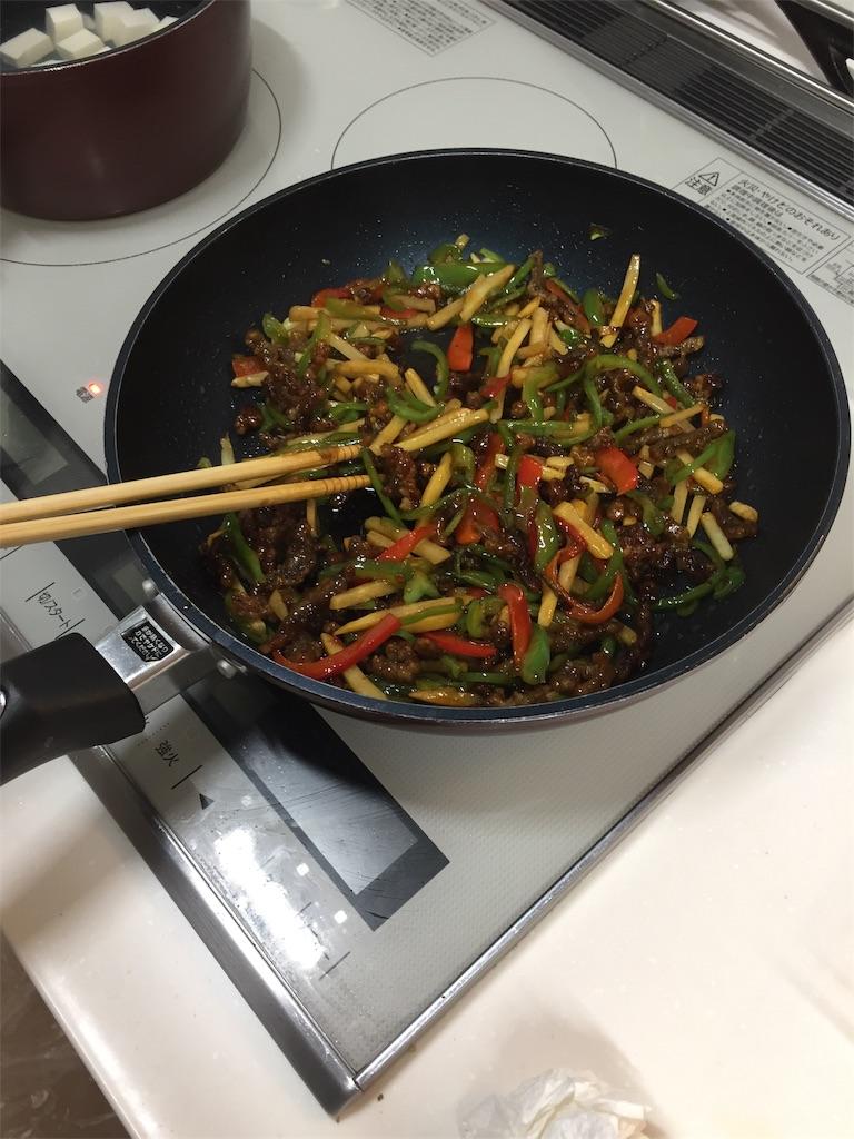 コープデリミールキット(チンジャオロースー)の調理過程(4.完成)