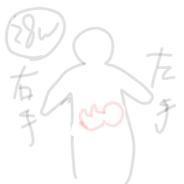 28週の赤ちゃんの位置のイラスト