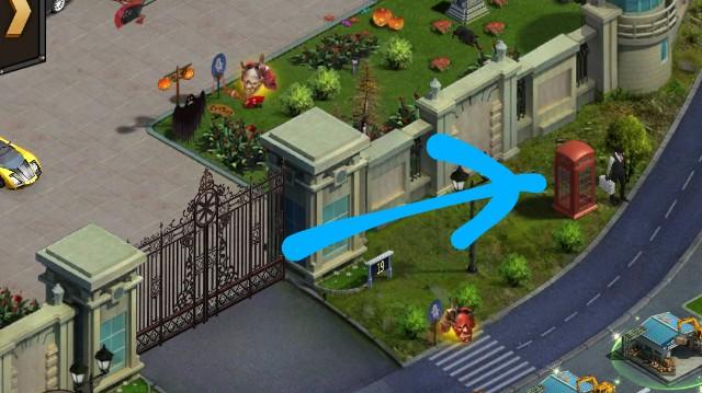 マフィア・シティの回収商人では、一部不要なアイテムの回収ができる。回収商人の位置画像。