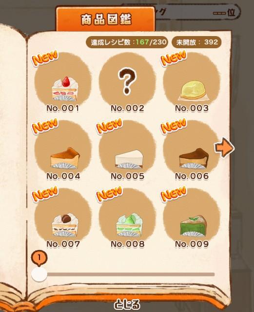 『洋菓子店ローズ パンも始めました』を1日プレイした結果の商品図鑑