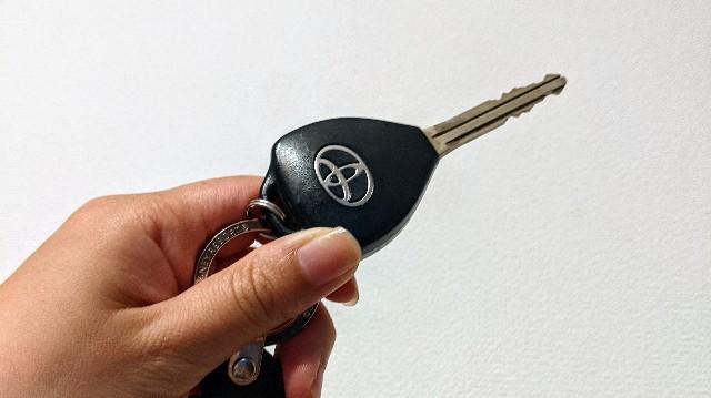 トヨタの車のキー・カギの写真