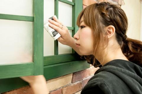 窓ガラスの掃除のしかた