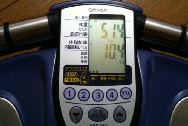 ウォーキングのダイエット効果の証拠「朝比奈の体重」