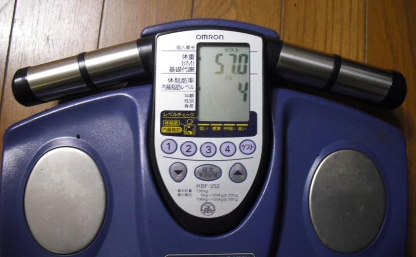 朝比奈の体重と体脂肪率の証拠画像