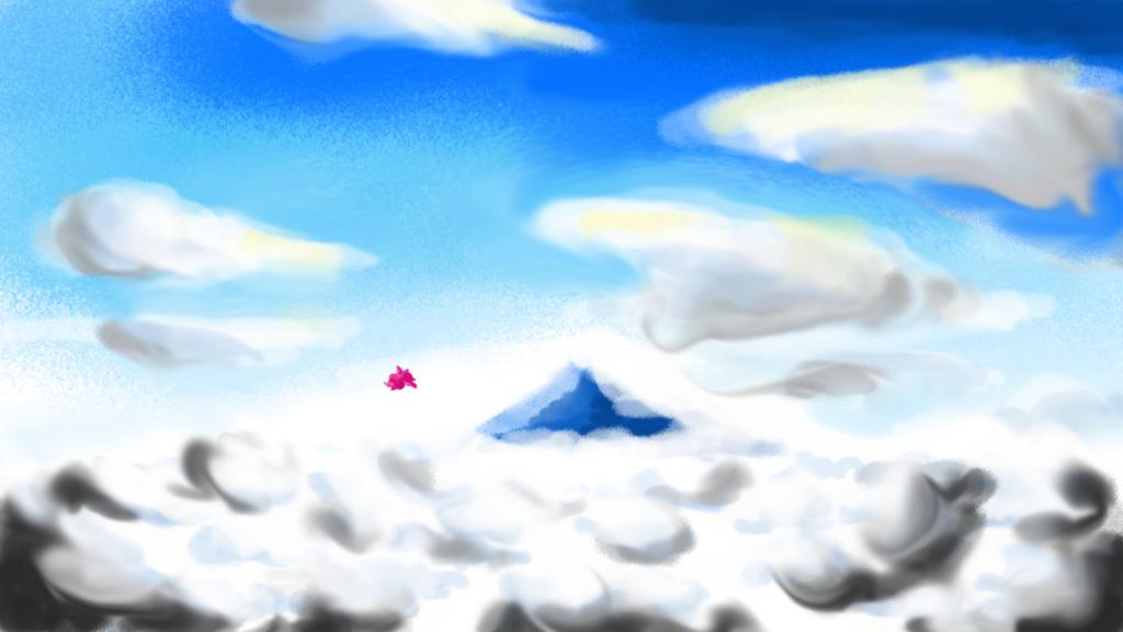雲海を飛ぶぷちゴン