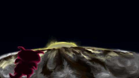 地球と宇宙とぷちゴン