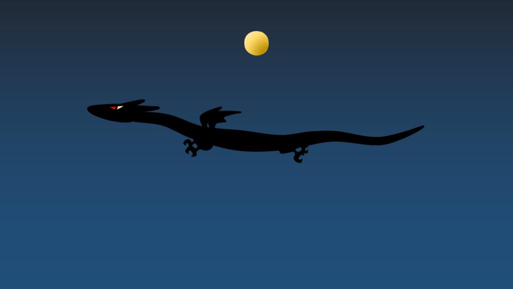 満月を見て覚醒するぷちゴン|ぷちゴン