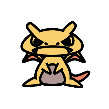 ファイヤー(ポケモン)の色のぷちゴン|ぷちゴン