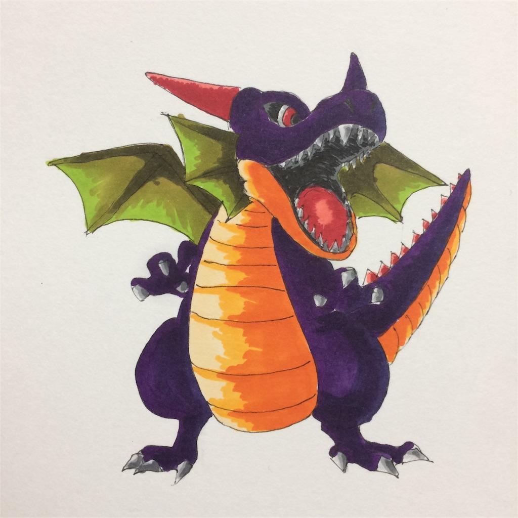 竜王を描いてみた|ドラクエ|コピック|MATSU