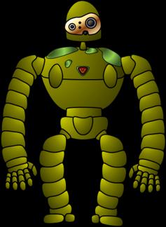 ロボット兵描いてみた|天空の城ラピュタ|ジブリ|Microsoft PowerPoint|MATSU