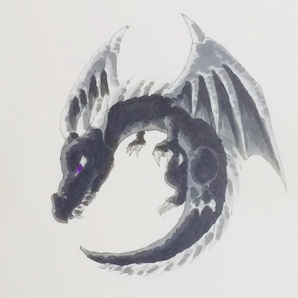 エンダードラゴンを描いてみた マイクラ コピック MATSU