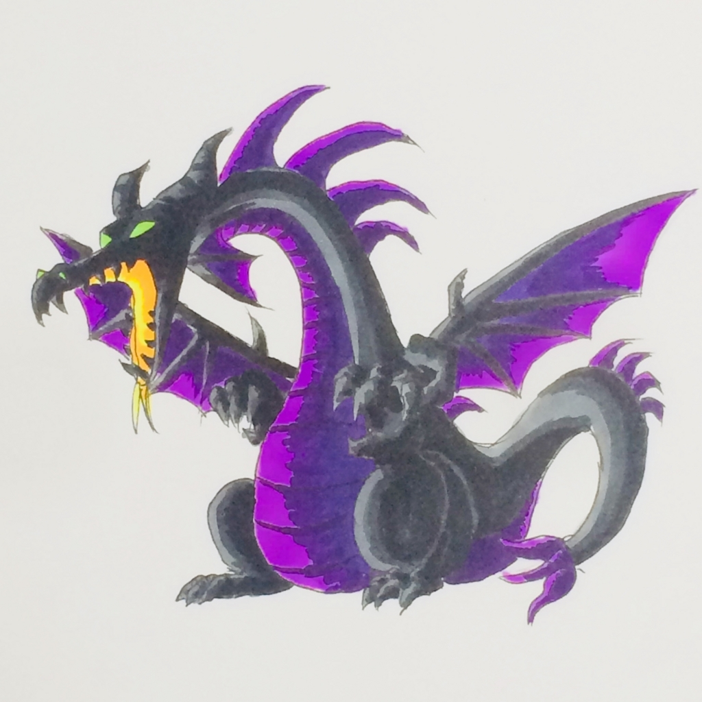 マレフィセントドラゴンを描いてみた|ディズニー|コピック|MATSU