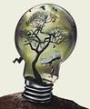 電球 ファンタジー 創造性 木 鳥 スイング ベッド 鳥の餌箱 人間