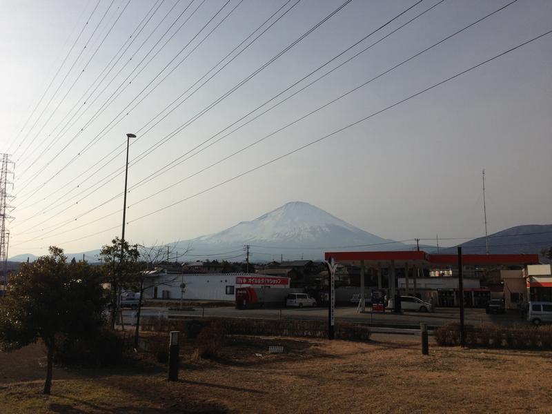 道の駅ふじおやまから見た富士山