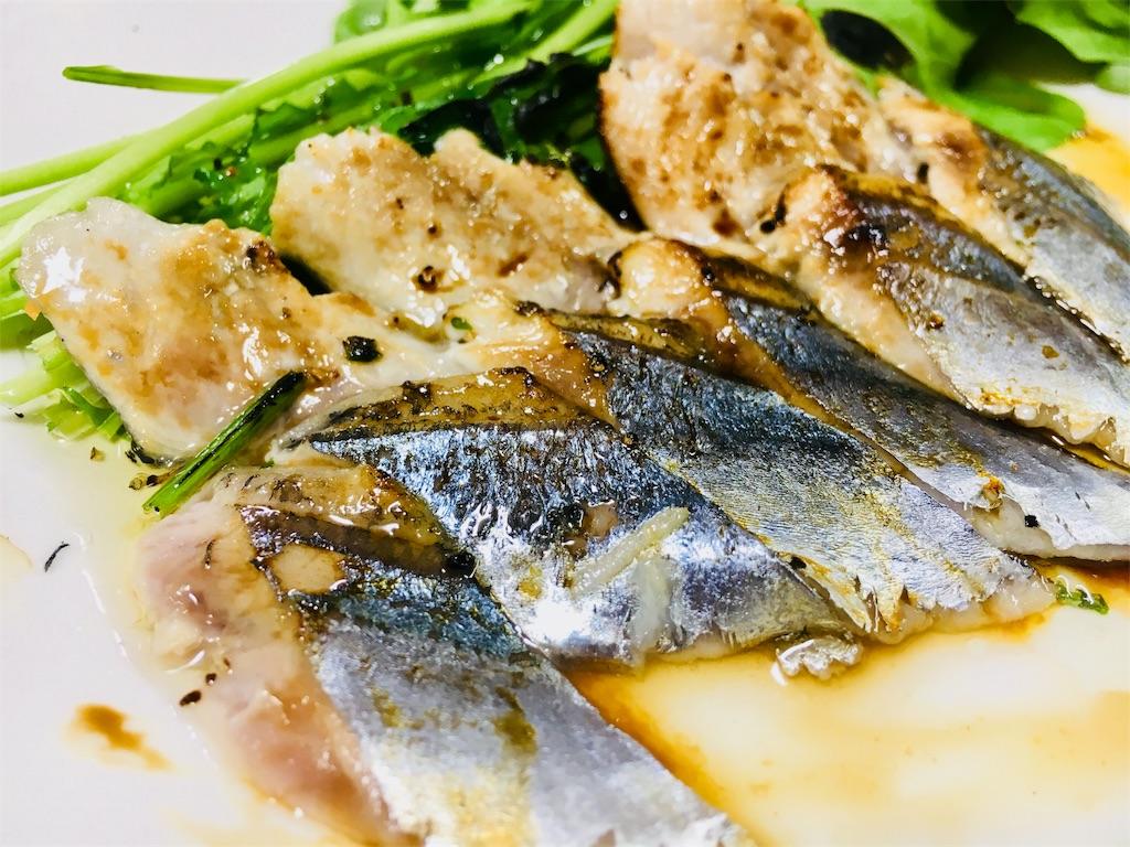 秋刀魚の(肝抜き)炙りカルトッチョ