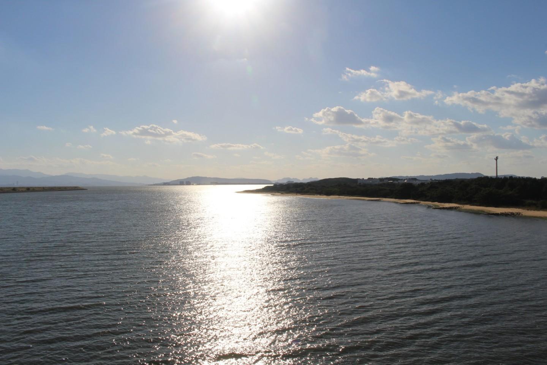 海の中道大橋からの風景写真