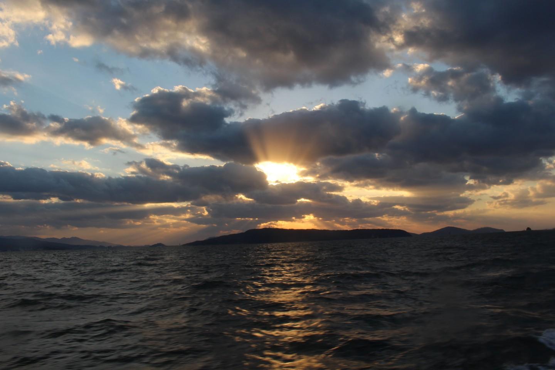 西戸崎からのフェリーからの風景写真1