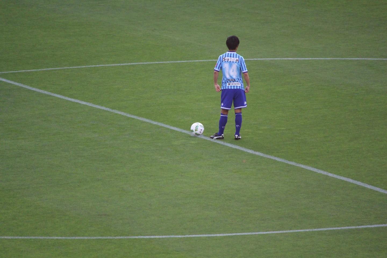 J2 第20節 ジェフ千葉 VS ギラヴァンツ北九州 キックオフを待つ町田選手の写真