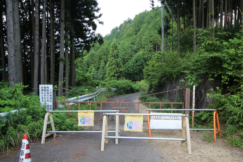梅ノ木峠通行止めの写真