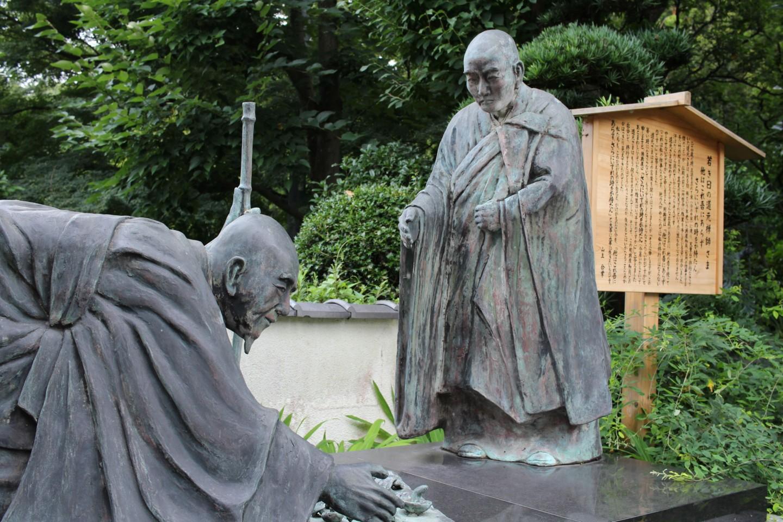 夏蒐山修廣寺の像の写真