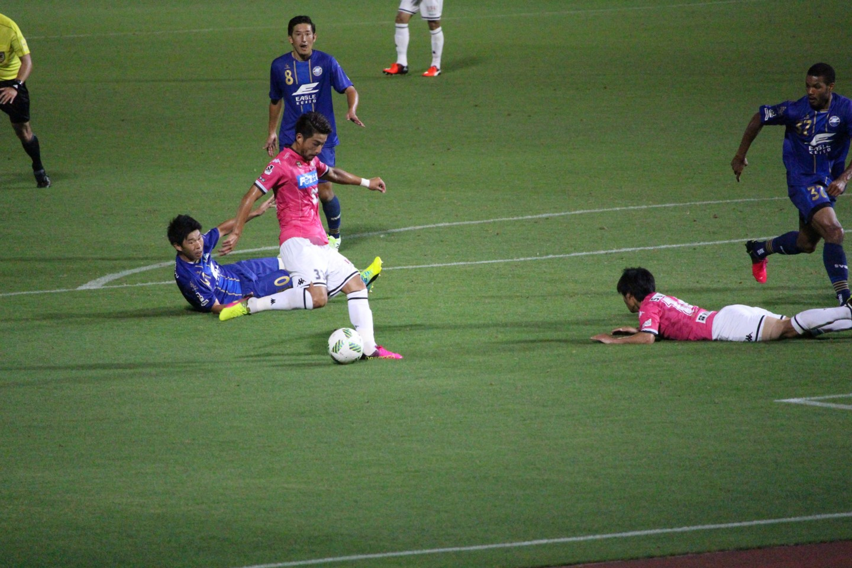 J2 第23節 町田ゼルビア VS ジェフ千葉 丹羽選手のゴールシーンの写真