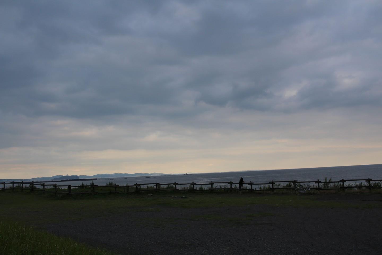 茅ヶ崎市の海岸からの風景写真