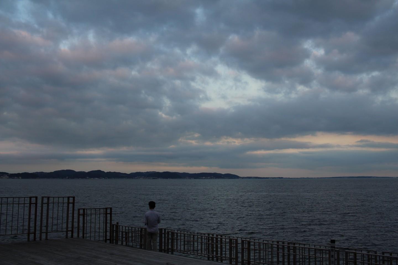 江ノ島 湘南大堤防の景色の写真1