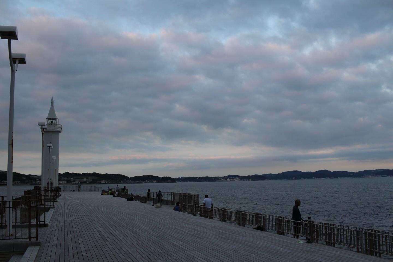 江ノ島の湘南大堤防の写真