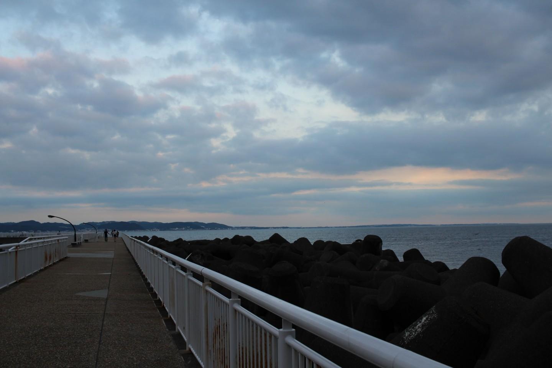 江ノ島 湘南大堤防の景色の写真5