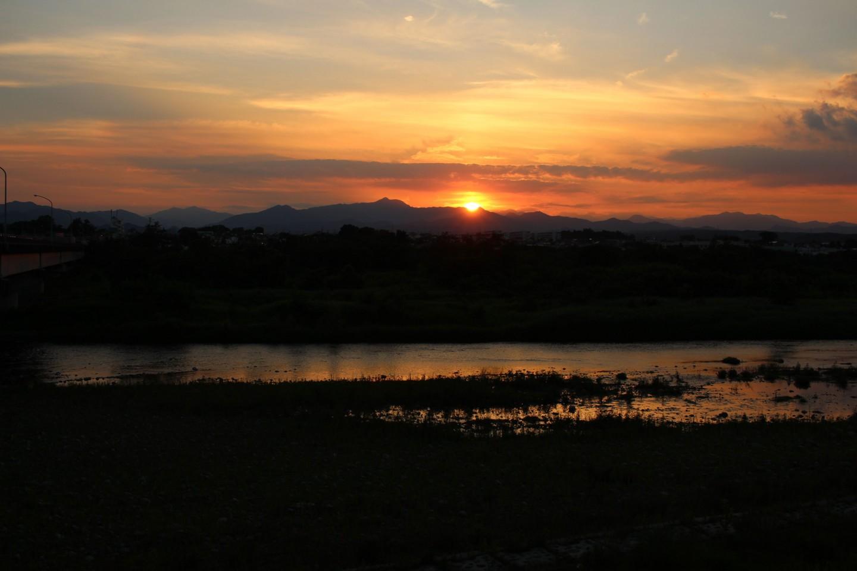 福生市南田園 多摩川からの日没の風景の写真3