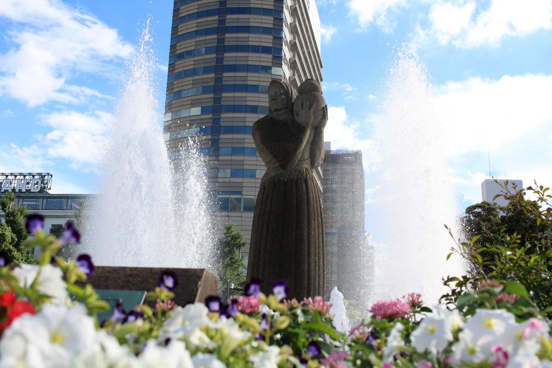 横浜 山下公園の噴水の写真