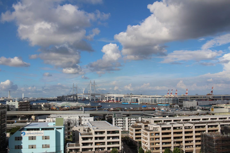 横浜 港の見える丘公園からの景色