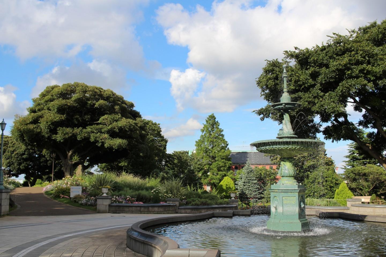横浜 港の見える丘公園の噴水の写真