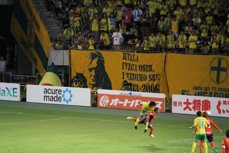 J2 第27節 ジェフ千葉 VS 愛媛FC 町田のヘディングシュートの写真