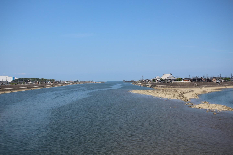 山国川からの風景の写真
